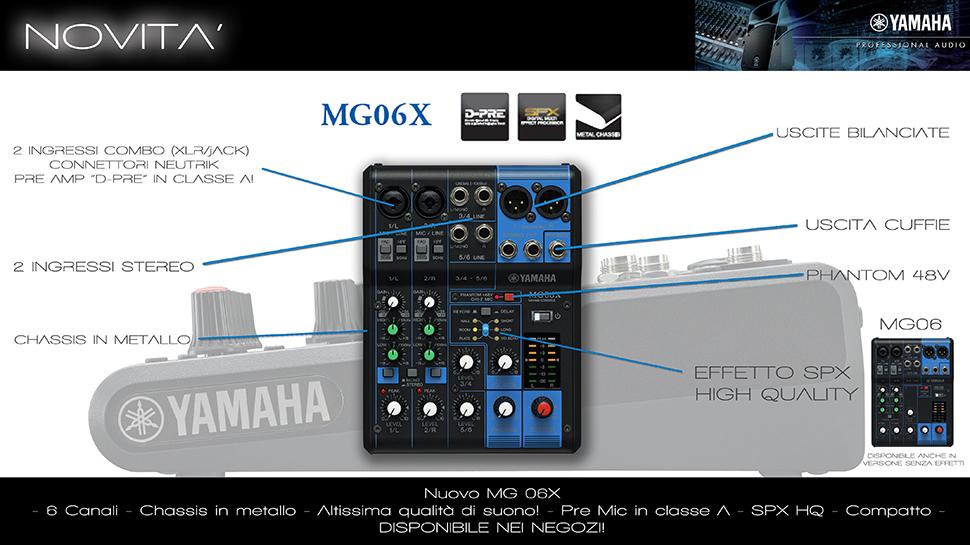 میکسر صدا یاماها Yamaha MG06X