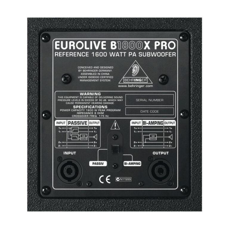 ساب ووفر پسیو بهرینگر Behringer EUROLIVE B1800X PRO