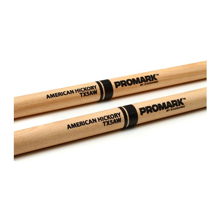 درام استیک پرومارک Promark TX5AW – 5A Wood Tip Hickory Drumsticks