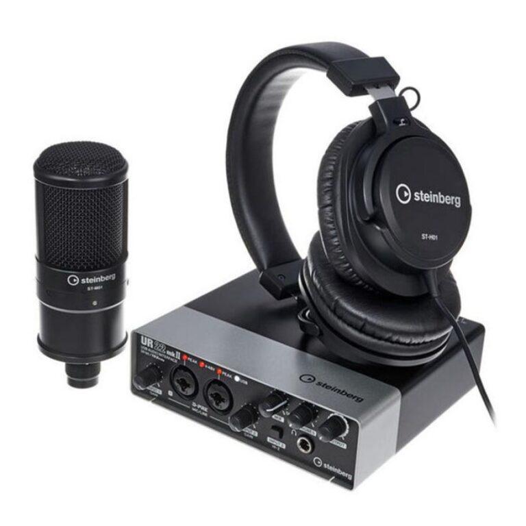 کارت صدا و پکیج استودیو Steinberg UR22mkii Recording Pack (کارکرده)